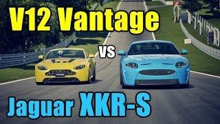 GT6丨Rival Battles丨V12 Vantage vs Jaguar XKR-S