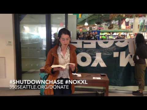 Activist shutdown 13 Chase Branches in Seattle to protest Keystone XL. #NoKXL #Shutdownchase