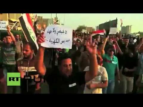 Iraq: Protesters hit the streets complaining of bad governance after power cuts