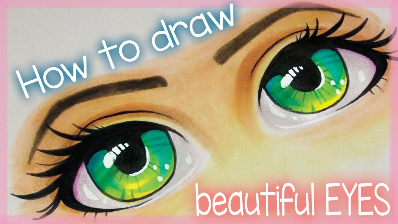 How to draw beautiful eyes