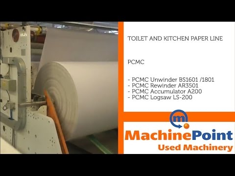 PCMC Toilet and kitchen paper line Used OTHER MACHINE TYPES MACHINES MachinePoint