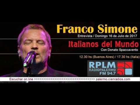 Franco Simone entrevista para Radio Palermo FM 94.7, Buenos Aires