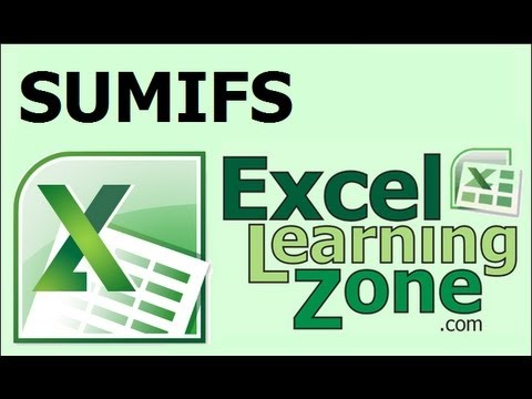 Microsoft Excel 2007 Tutorial - New SUMIFS Function In Excel 2007