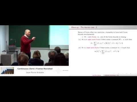 Jean Pierre Antoine:  Continuous (semi-)frames revisited