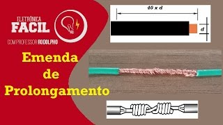 Emenda do tipo prolongamento - Cabo flexível de 1,5mm²