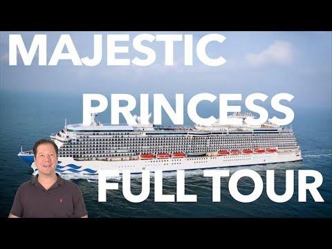 Majestic Princess Review- Full Walkthrough - Cruise Ship Tour - Princess Cruises