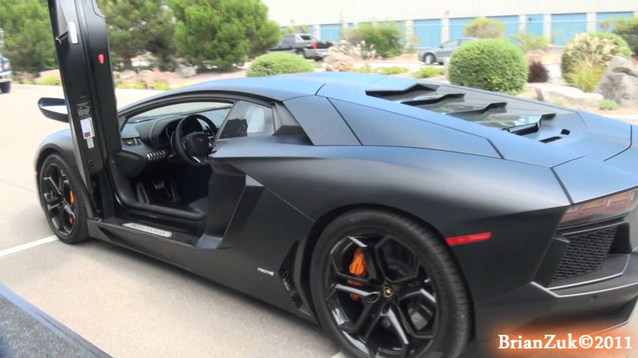 Matte Black Lamborghini Aventador Lp700 4 Youtube