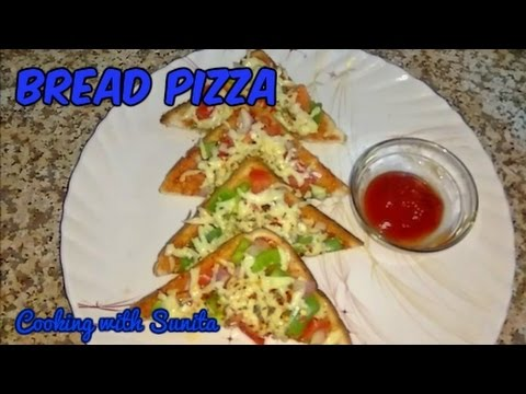 how to make bread pizza in hindi
