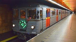 Metro Praha - Historická souprava Ečs - Mikulášské jízdy 2017