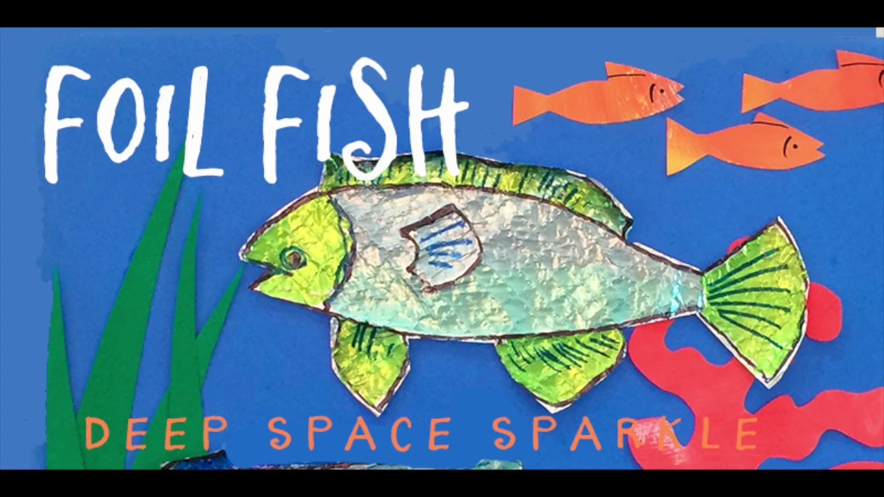 foil fish earth day art project for kids youtube