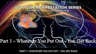 Marina Jacobi - Quantum Manifestation PART 1 co-host Joe Pena - 3-8-17