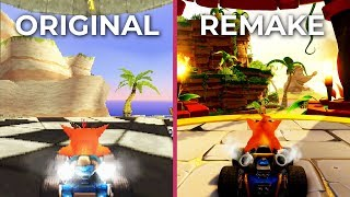 Crash Team Racing – Original vs. Nitro-Fueled Remake Graphics Comparison