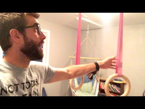 ★★★★★ Wood Gym Rings Installation - Review of Wooden Gymnastic Rings, Fitness Rings, Exercise Rings,