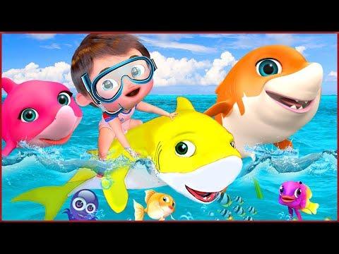 🔴-baby-shark-,-candy-song-,-wheels-on-the-bus-,-happy-birthday-song---banana-cartoon