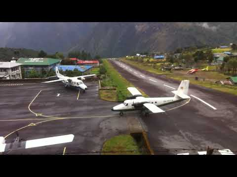 Lukla Airport  | Scary Landing | Bad Weather | Rainy Day | Lukla | Tenzing–Hillary Airport