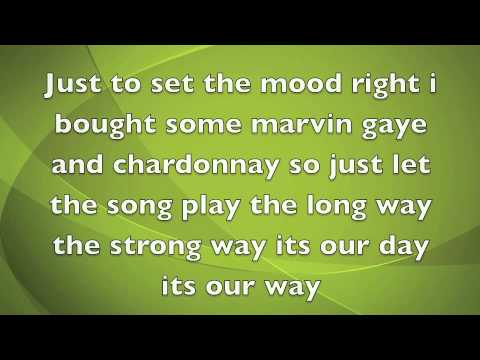 Marvin Gaye and Chardonnay LYRICS ON SCREEN Big Sean feat. Kanye & Roscoe (dirty)