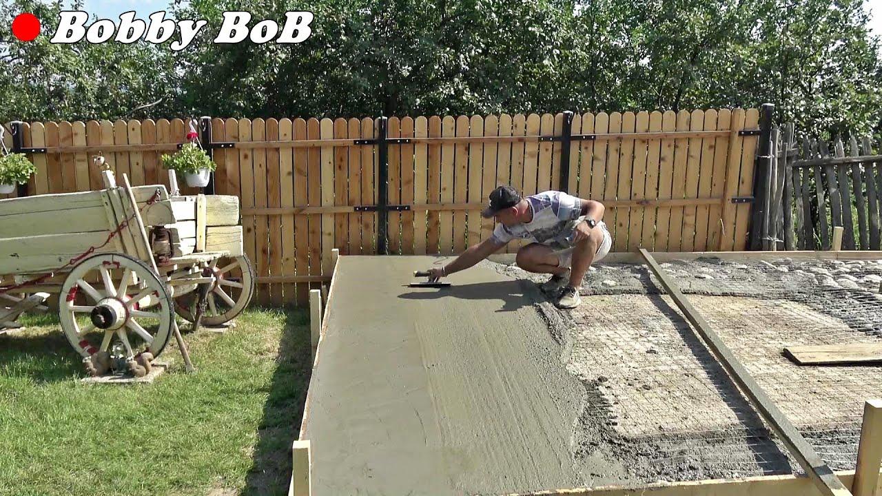 Am turnat o placa de beton - amenajare zona foisor la Casuta de la tara - Bobby BoB