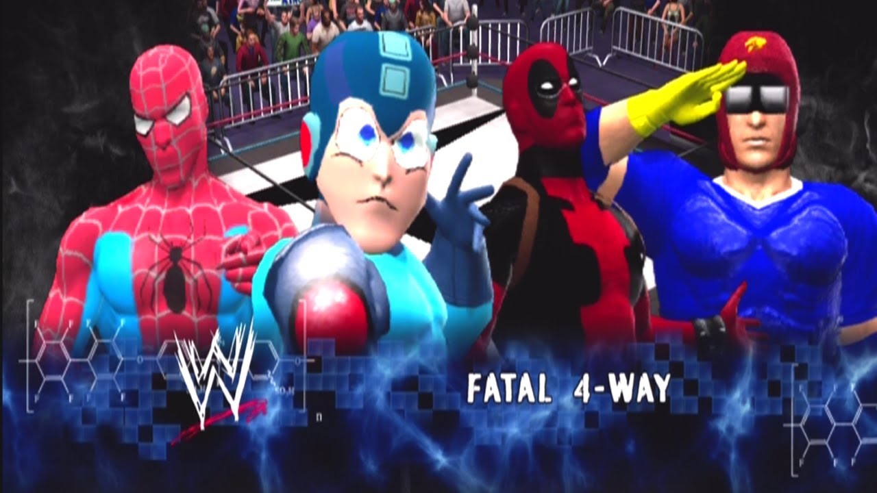 Tmn Megaman Vs Deadpool Vs Spiderman Vs Captain Falcon Fatal Four