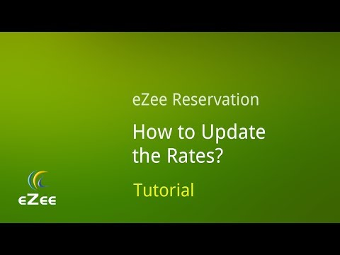 How To Update Rates In EZee Reservation, Online Hotel Booking Engine