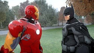 BATMAN VS IRON MAN - EPIC SUPERHEROES BATTLE thumbnail