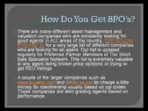 Short Sale Training Session 3 - Broker Price Opinions (BPO's)