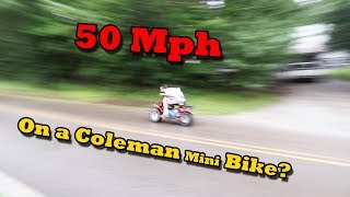 Can it do 50MPH?? 🤯 How To Make your Coleman Mini Bike go FAST!! thumbnail