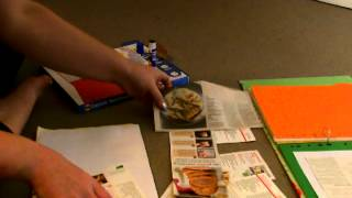 ASMR Recipe Binder - Cutting, gluing, crinkly plastic binder inserts (no talking)