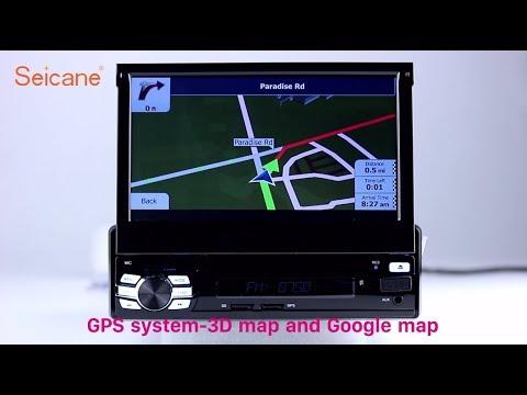 1 Din Universal Radio GPS Sat Nav Retractable HD Touch Screen DVD Support 3G 4G WIFI