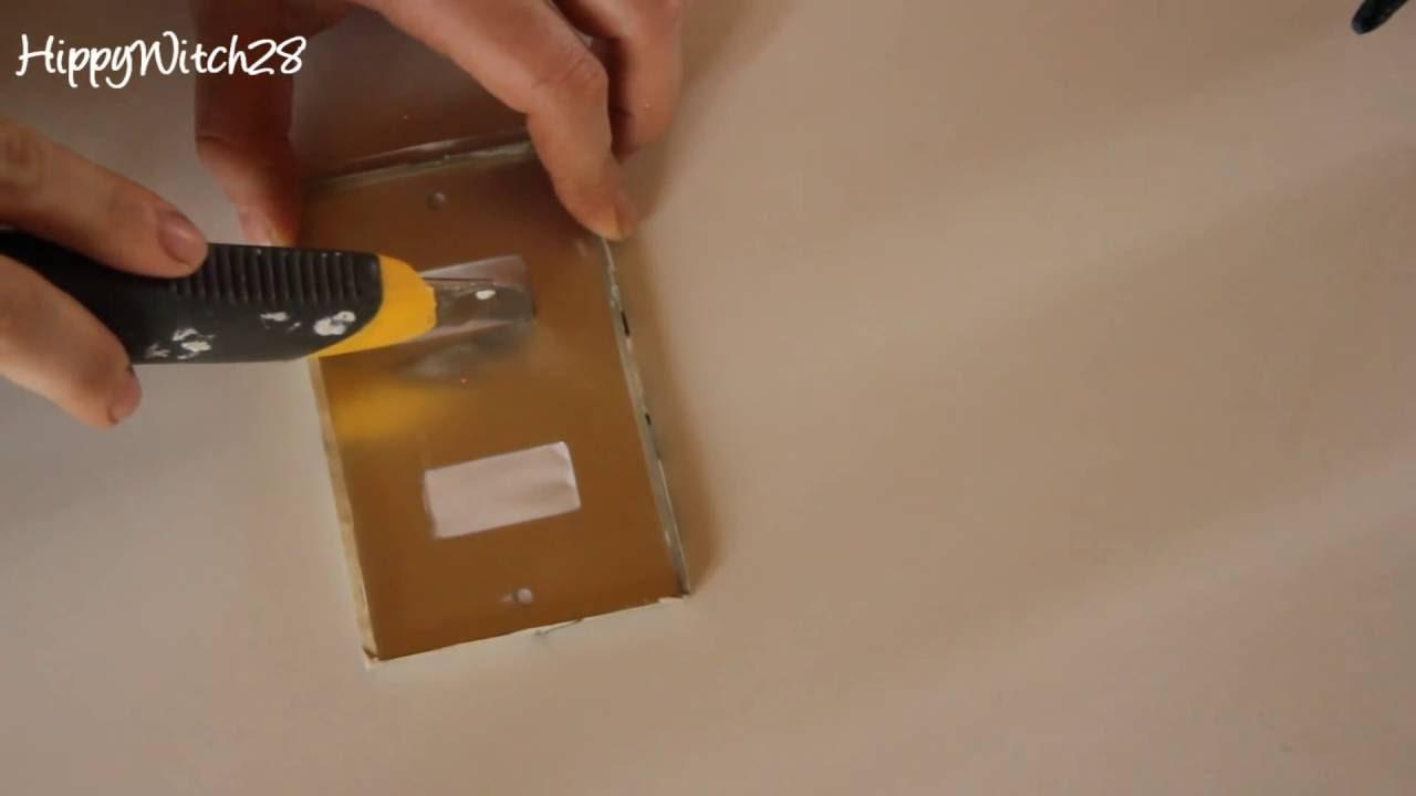 Copriprese Fai Da Te diy: decorazione placca luce - light switch