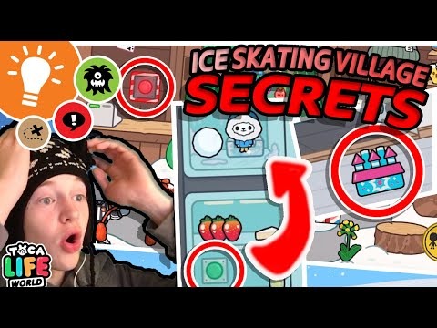 ALL ICE SKATING VILLAGE SECRETS! | NEW LOCATION OUT NOW in Toca Life: World NEW FREE APP - Toca Boca