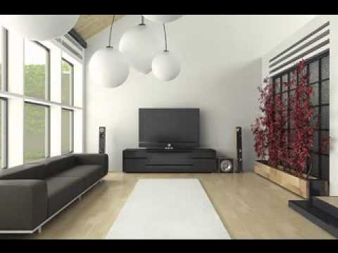 Simple living room interior design youtube for Simple modern interior