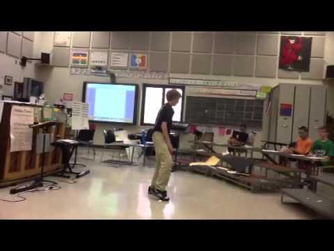 Noah bangor middle school break dancing