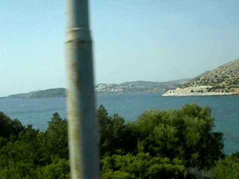 driving to cape sounion, greece