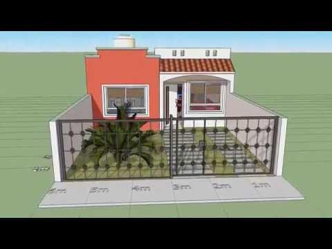 Casa de un piso lote 6x15 mts youtube for Disenos de casas 10x20