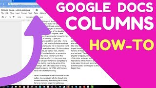 Google docs columns of text - create columns - How to