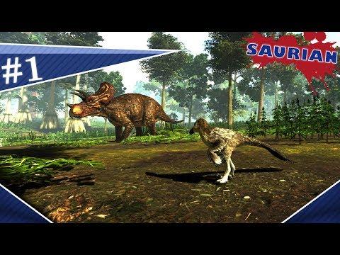 Saurian (#1) | Bebê Dakotaraptor, separação da família, Carnívoro vs Herbívoro | (PT/BR)
