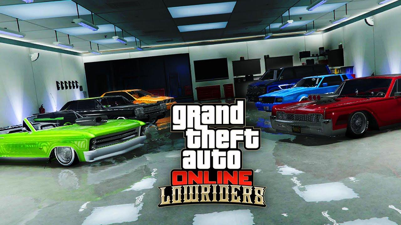 Mon garage lowrider gta 5 online youtube for Garajes gta v online