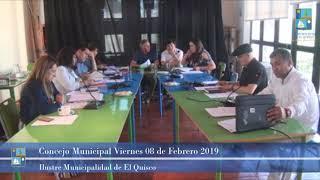Concejo Municipal Viernes 8 de Febrero 2019 - El Quisco