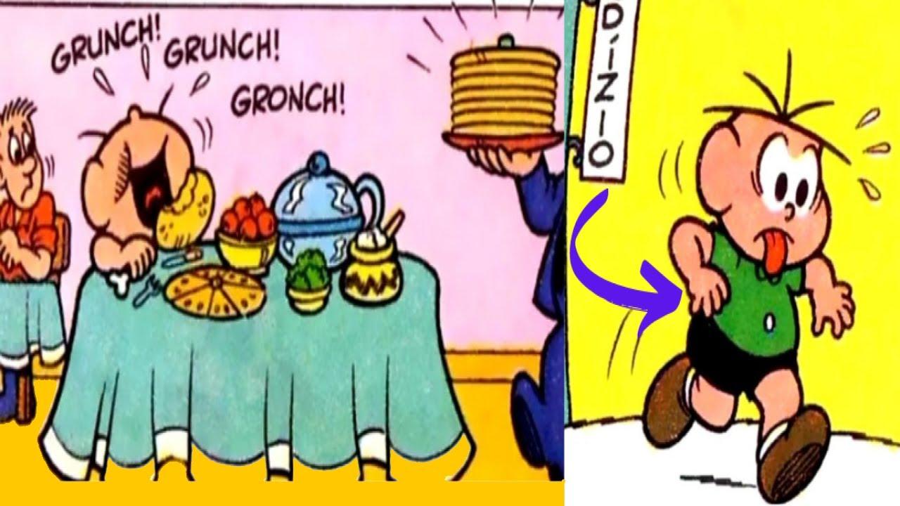 Cebolinha com muita fome😮😯 - Gibi Dublado - Quadrinhos da Turma da Mônica - Historinha de Gibi Kids