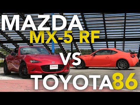 2017 Toyota 86 vs Mazda MX-5 Miata RF Track Comparison