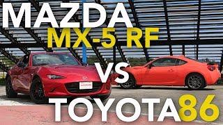 2017 Toyota 86 vs Mazda MX-5 Miata RF Track Comparison