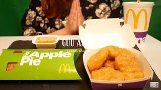Asmr Chicken Nuggets And Apple Pie No Talking Eating Sounds Mukbang