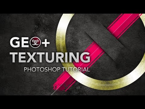 Photoshop Tutorial: Simple Geometric Texture Effect (Masking Techniques and Layer Blending)
