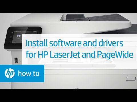 How To Install Software And Drivers For HP LaserJet And PageWide Printers | HP Printers | HP