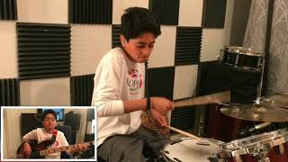 Download Lagu New Light : John Mayer - Drum, Bass and Guitar Cover by Raghav Mehrotra Mp3