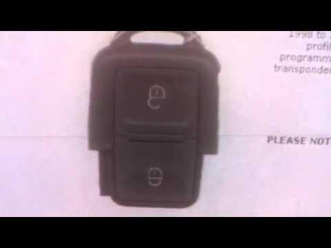Volkswagen 2 Button Remote 1998-2001 (square) 1J0959753N - SAL-VAG-NWKS22