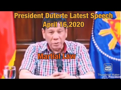 Latest Speech President Duterte | Martial Law from YouTube · Duration:  4 minutes 15 seconds