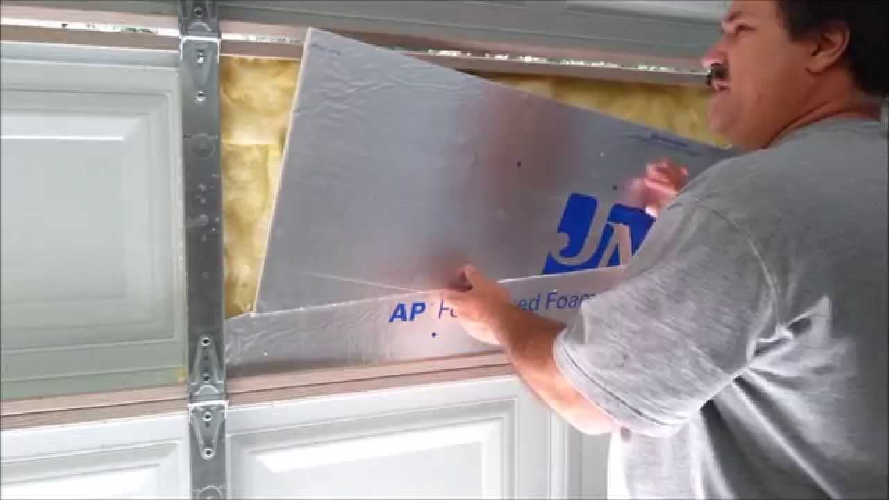 Garage Door Insulation And Adjustment From Scratch: Part 1 Of 3   YouTube