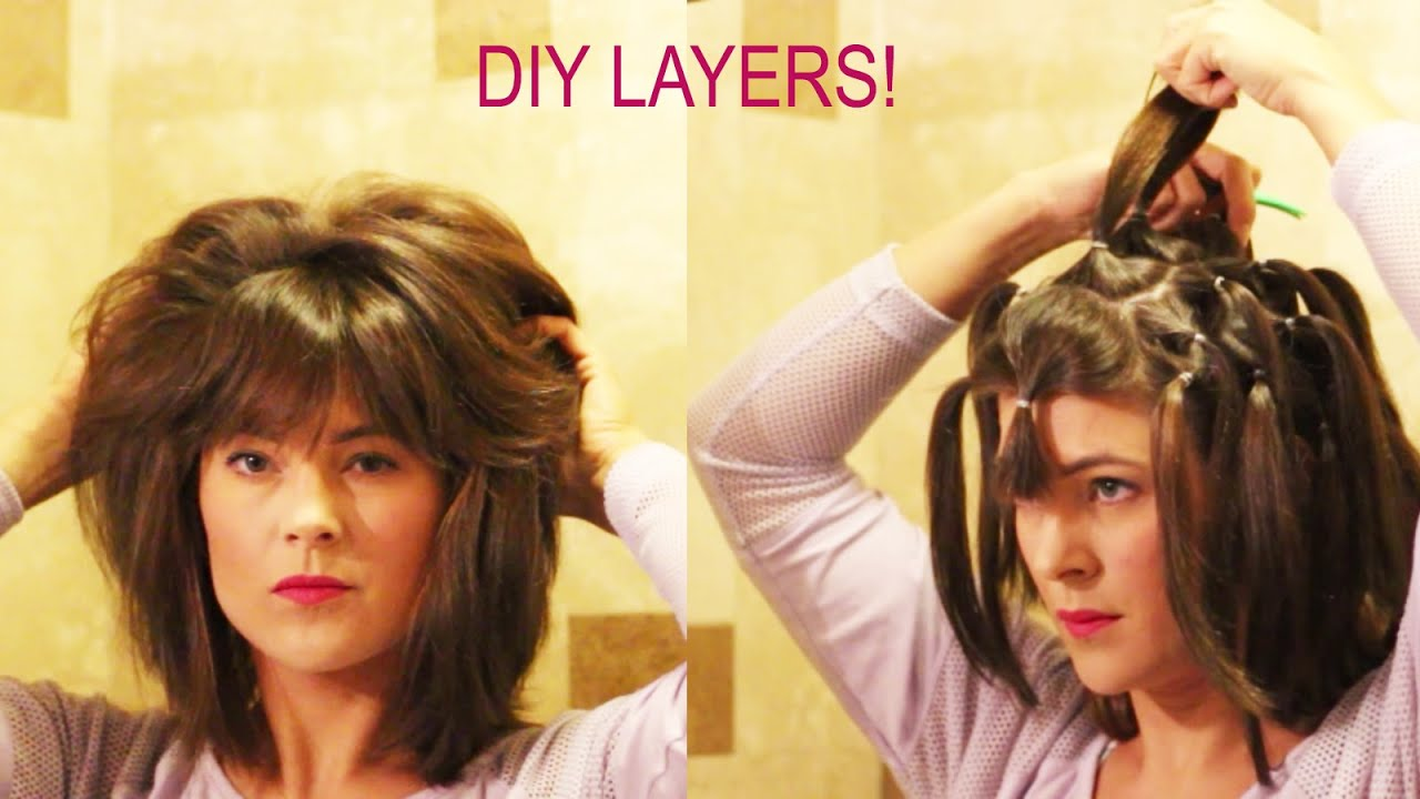 How To Cut Your Own Layers Diy 90 Degree Haircut Method For Long