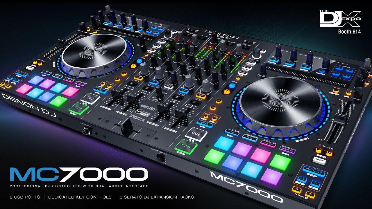 denon dj mc7000 professional dj controller mixer with dual audio interfaces youtube. Black Bedroom Furniture Sets. Home Design Ideas